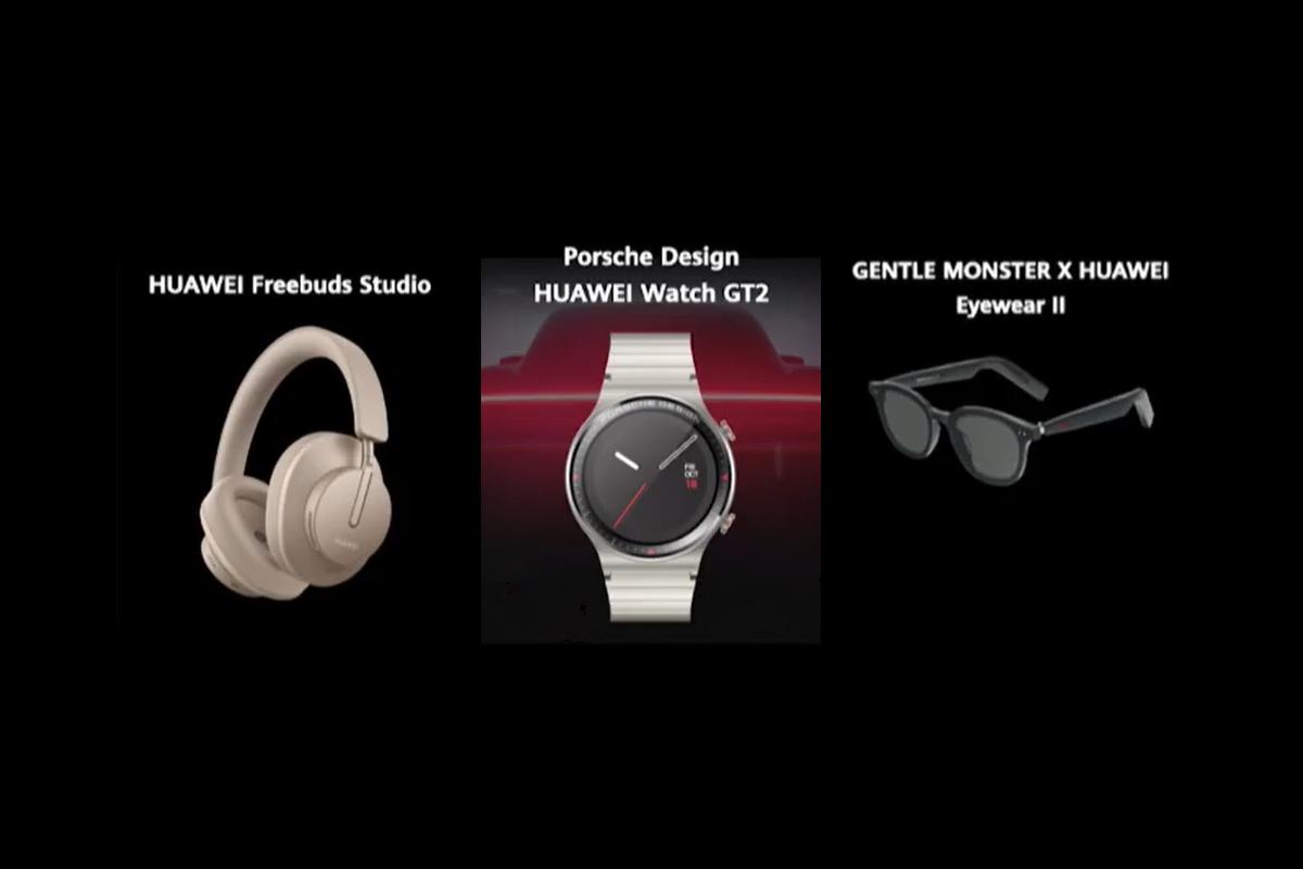 Huawei выпустила полноразмерные наушники FreeBuds Studio, часы Watch GT 2 Porsche Design и очки со встроенной гарнитурой